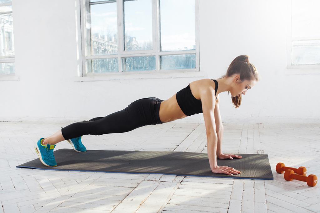 manejar las flexiones de pecho